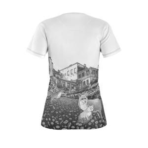 I.T. Hammar The Neighbourhood all-over print 100% cotton t-shirt - black seams