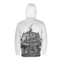 Load image into Gallery viewer, I.T. Hammar Hideaway all-over print lightweight cotton hoodie jacket