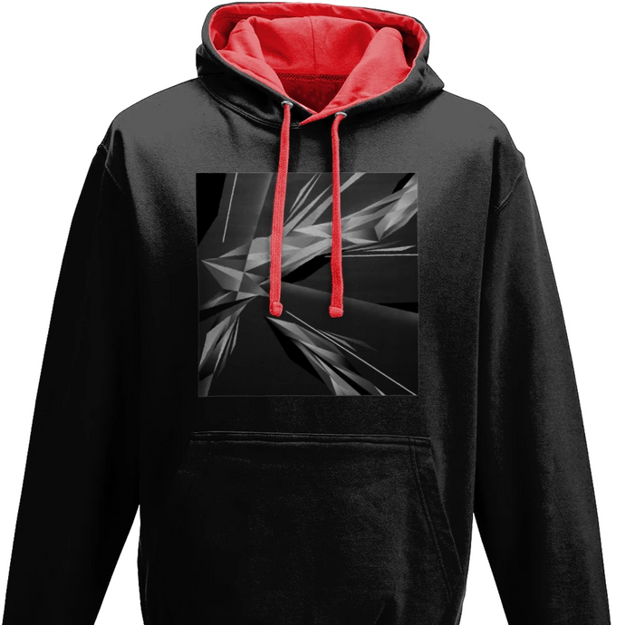 #ArtIt- urban artwear making streetwear out of contemporary art: A. Platkovsky black hoodie delivered print on demand