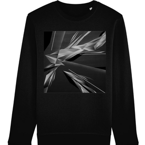 A. Platkovsky City Lights 08 Monochrome unisex organic cotton/recycled polyester sweatshirt
