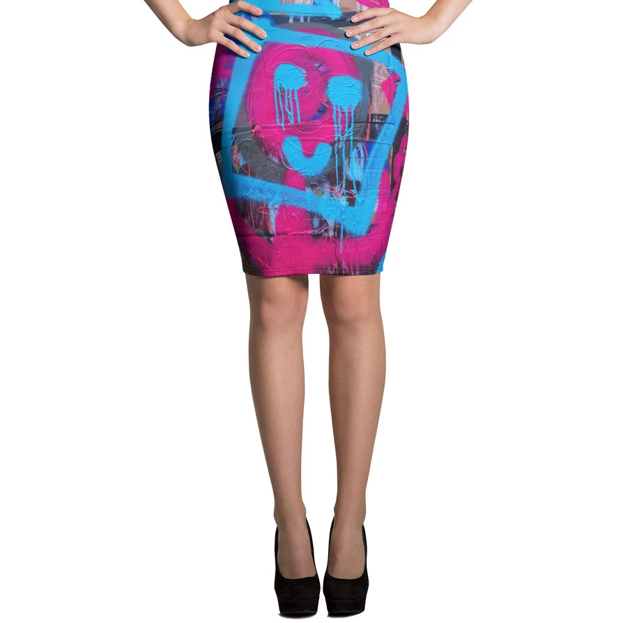 #ArtIt- urban artwear making streetwear out of contemporary art: Luanne May all over skirt delivered on demand
