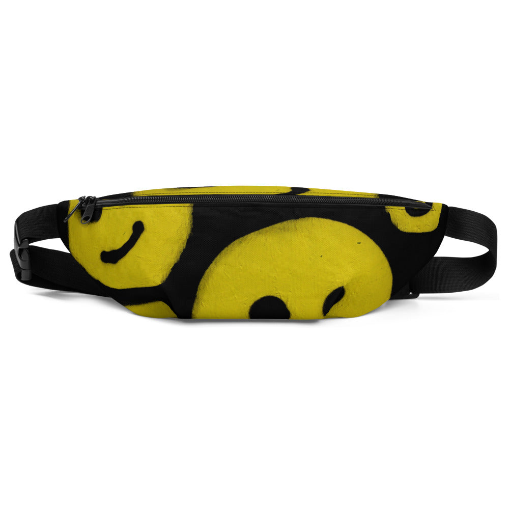 #ArtIt- urban artwear making streetwear out of contemporary art: R. Wolff smiley all over print fanny pack delivered on demand