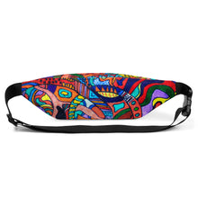 Load image into Gallery viewer, Jane Indigo (NO) all-over print fanny pack for #ArtIt - urban artwear