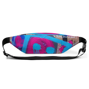 Luanne May Sommerøya festival art all-over print fanny pack delivered on demand from #Artit - urban artwear