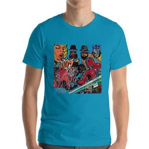 #ArtIt- urban artwear making streetwear out of contemporary art: Mr. Kling blue cotton t-shirt delivered print on demand