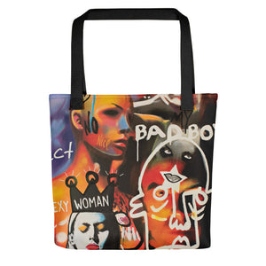 #ArtIt- urban artwear making streetwear out of contemporary art: Mr. Kling all over print tote bag delivered on demand