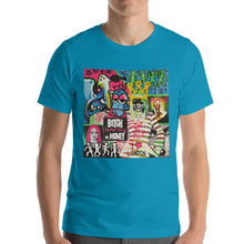 Load image into Gallery viewer, #ArtIt- urban artwear making streetwear out of contemporary art: Mr. Kling blue cotton t-shirt delivered print on demand