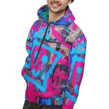 Load image into Gallery viewer, Luanne May Are Friends Electric? I SØ19 unisex all-over hoodie