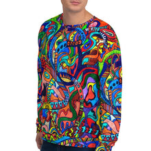Load image into Gallery viewer, #ArtIt- urban artwear making streetwear out of contemporary art: Jane Indigo all over print sweatshirt delivered on demand