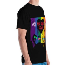 Load image into Gallery viewer, Mr Kling All you need is love all-over t-shirt