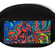 Load image into Gallery viewer, Jane Indigo Mad tiger all-over fanny pack