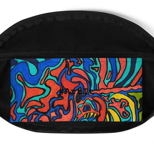 Jane Indigo Mad tiger all-over fanny pack