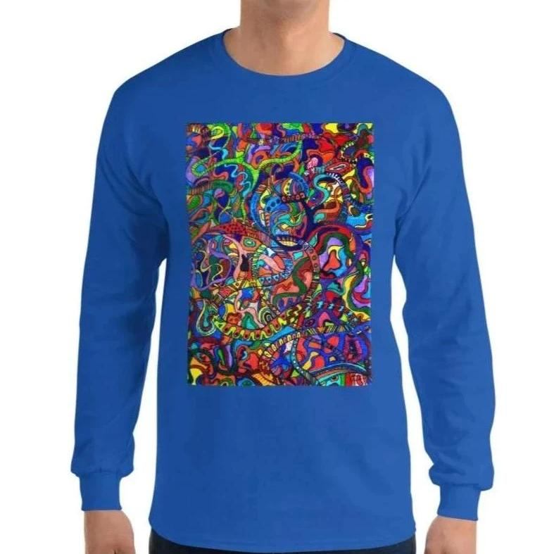 Jane Indigo (NO) printed cotton longsleeve for #ArtIt - urban artwear