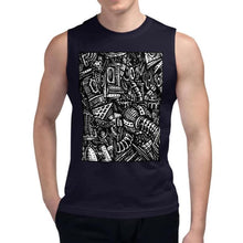 Load image into Gallery viewer, Emil Ellefsen Noise sleeveless unisex 100% cotton t-shirt