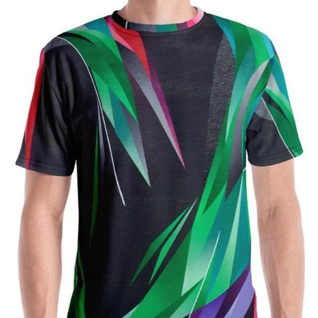 #ArtIt- urban artwear making streetwear out of contemporary art: Adrian Platkovsky all over print tee delivered on demand