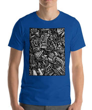 Load image into Gallery viewer, #ArtIt- urban artwear making streetwear out of contemporary art: Emil Ellefsen blue cotton t-shirt delivered print on demand