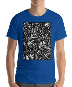 #ArtIt- urban artwear making streetwear out of contemporary art: Emil Ellefsen blue cotton t-shirt delivered print on demand