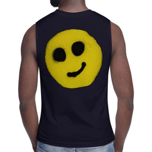 R. Wolff Smiley SØ19 sleeveless unisex 100% cotton t-shirt