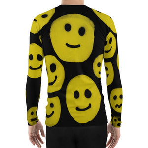 #ArtIt- urban artwear making streetwear out of contemporary art: R. Wolff smiley all over print rash guard longsleeve delivered on demand