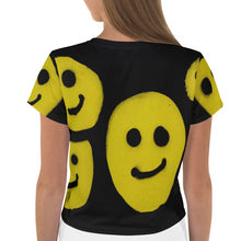 Load image into Gallery viewer, NEW: R. Wolff Smiley SØ19 all-over crop tee