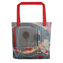 Load image into Gallery viewer, NEW: Luanne May Through the looking-glass and what Julian found there all-over tote bag