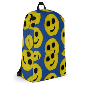 R. Wolff SØ19 Modest smiley all over print backpack