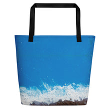 Load image into Gallery viewer, Jane Indigo 09 all-over beach/shopping bag