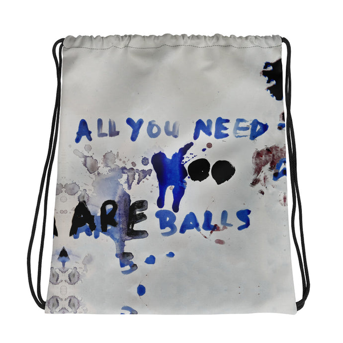 Luanne May All you need are balls drawstring bag from #ArtIt - urban artwear