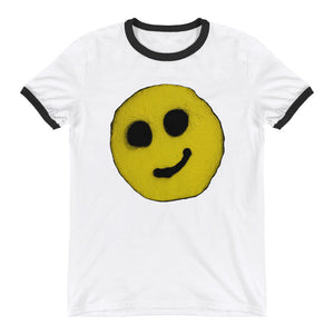 #ArtIt- urban artwear making streetwear out of contemporary art: R. Wolff cotton smiley tee delivered print on demand