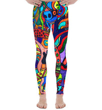 Load image into Gallery viewer, #ArtIt- urban artwear making streetwear out of contemporary art: Jane Indigo all over print leggings delivered on demand