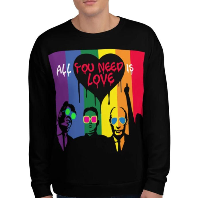 Mr. Kling All you need is love all-over unisex sweatshirt