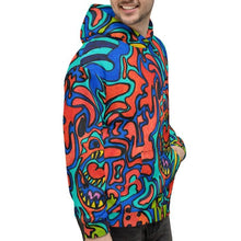 Load image into Gallery viewer, Jane Indigo Mad Tiger all over print hoodie for #ArtIt - urban artwear