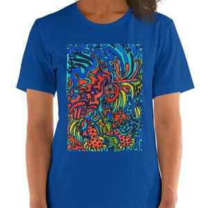 Jane Indigo Mad tiger unisex 100% cotton t-shirt