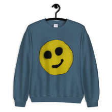 Load image into Gallery viewer, #ArtIt- urban artwear making streetwear out of contemporary art: R. Wolff smiley sweatshirt delivered print on demand