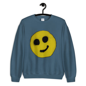 #ArtIt- urban artwear making streetwear out of contemporary art: R. Wolff smiley sweatshirt delivered print on demand