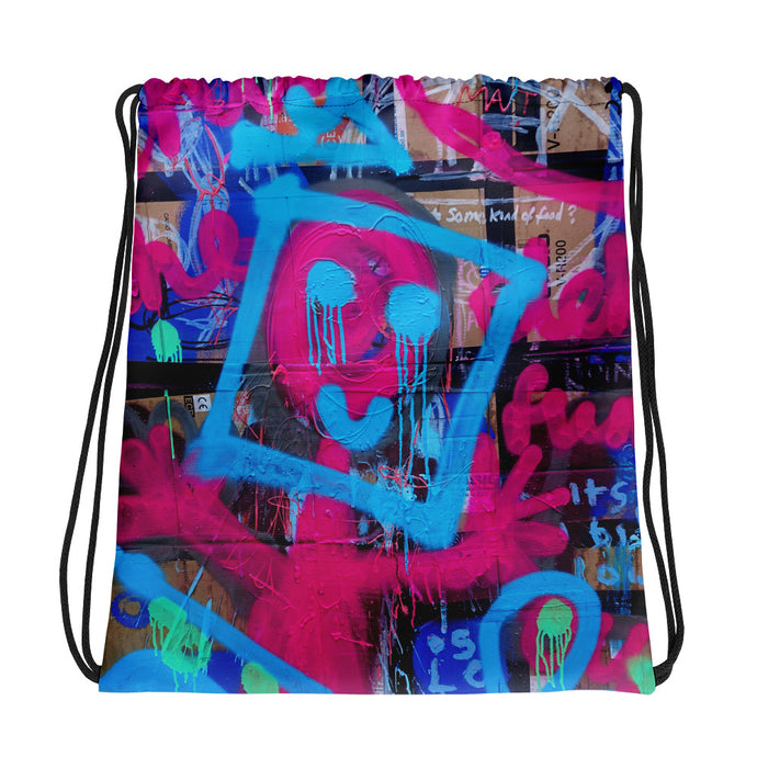 Luanne May Are Friends Electric? I SØ19 all-over drawstring bag