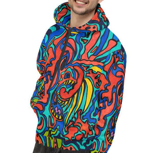 Jane Indigo Mad Tiger all over print hoodie for #ArtIt - urban artwear