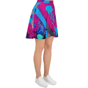 NEW: Luanne May Are friends electric? SØ19 all-over skater skirt