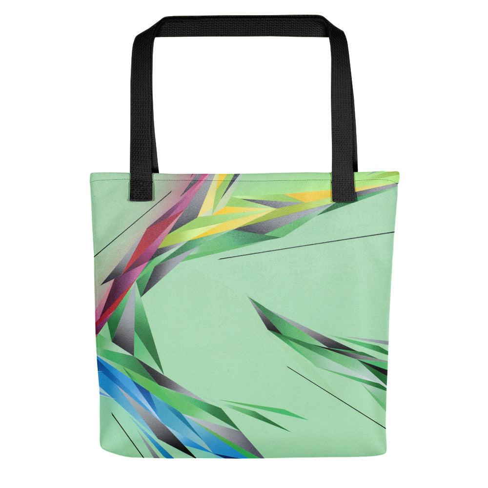 #ArtIt - urban artwear, making streetwear out of contemporary art: A. Platkovsky all over printed tote bag delivered on demand