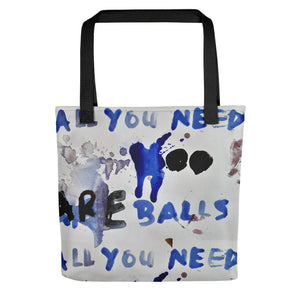 NEW: Luanne May All you need are balls all-over tote bag