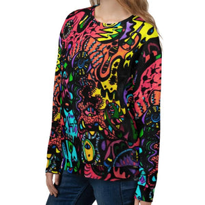 Jane Indigo 10 all-over unisex sweatshirt