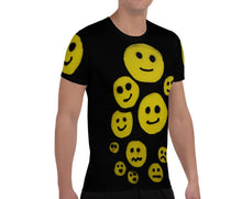 Load image into Gallery viewer, R. Wolff Smileys SØ19 all-over athletic t-shirt