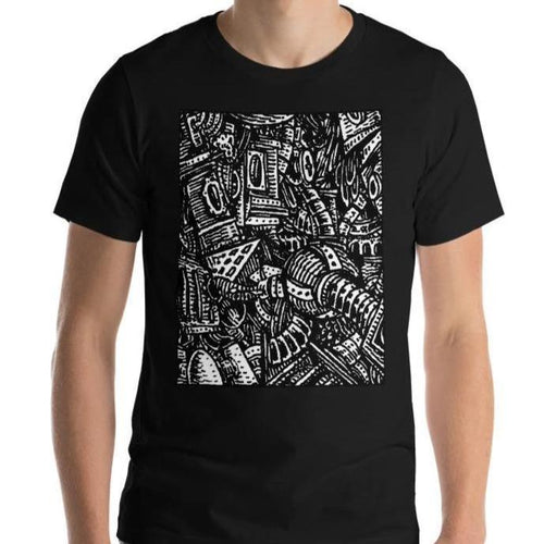 #ArtIt- urban artwear making streetwear out of contemporary art: Emil Ellefsen black cotton tee delivered print on demand
