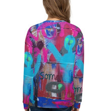 Load image into Gallery viewer, #ArtIt- urban artwear making streetwear out of contemporary art: Luanne May all over print sweatshirt delivered on demand