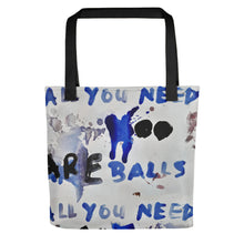 Load image into Gallery viewer, NEW: Luanne May All you need are balls all-over tote bag