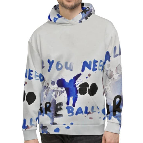 Luanne May All you need are balls unisex all-over hoodie