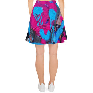 #ArtIt- urban artwear making streetwear out of contemporary art: Luanne May all over print skirt delivered on demand