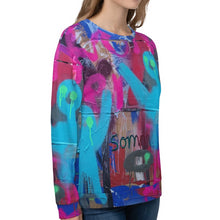 Load image into Gallery viewer, Luanne May Are friends electric? II SØ19 all-over unisex sweatshirt