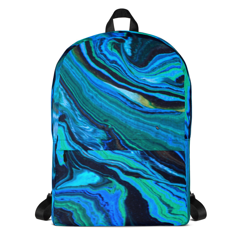 #ArtIt- urban artwear making streetwear out of contemporary art: Jane Indigo all over print backpack delivered on demand