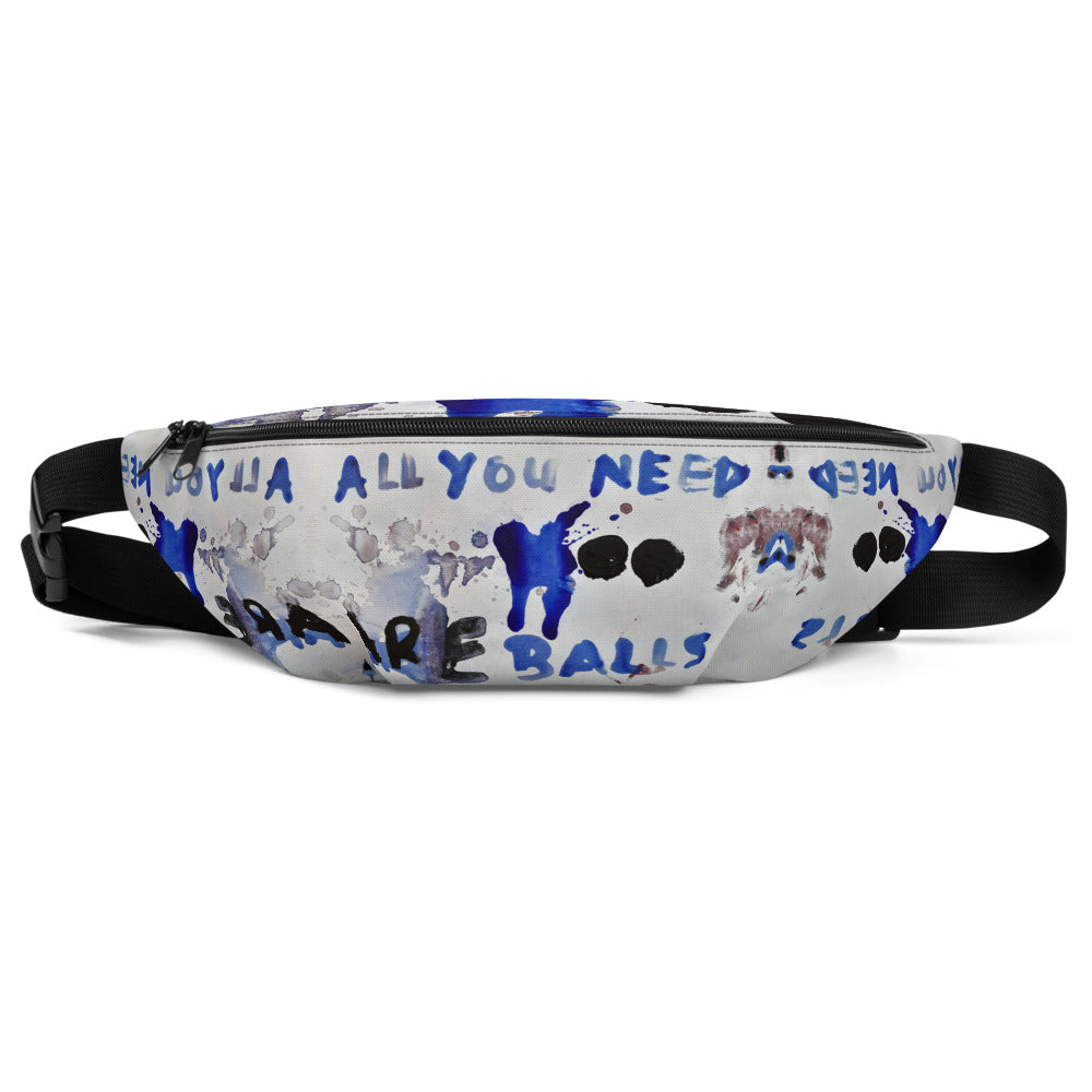 Luanne May All you need are balls fanny pack from #ArtIt - urban artwear